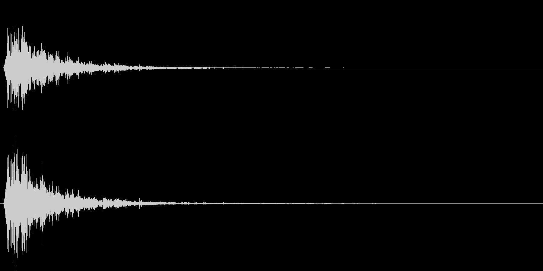 「シャシャーン」象徴的なソリベルの音4の未再生の波形