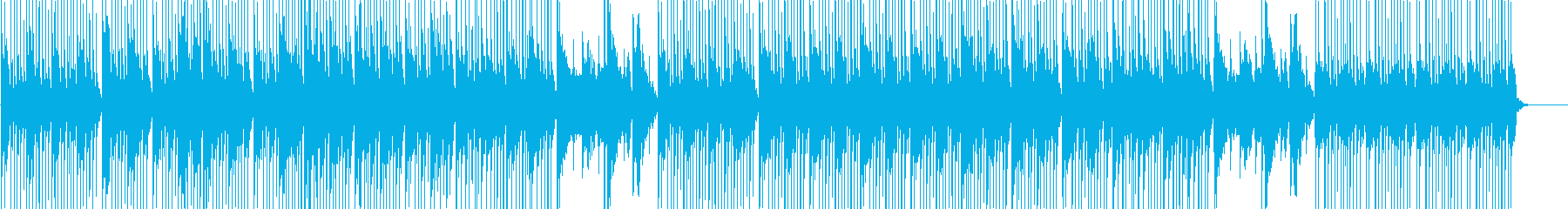 和風 三味線と尺八の軽やかな楽曲の再生済みの波形