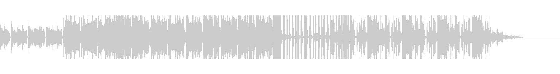 シンセリードが目立つリズミカルなBGMの未再生の波形