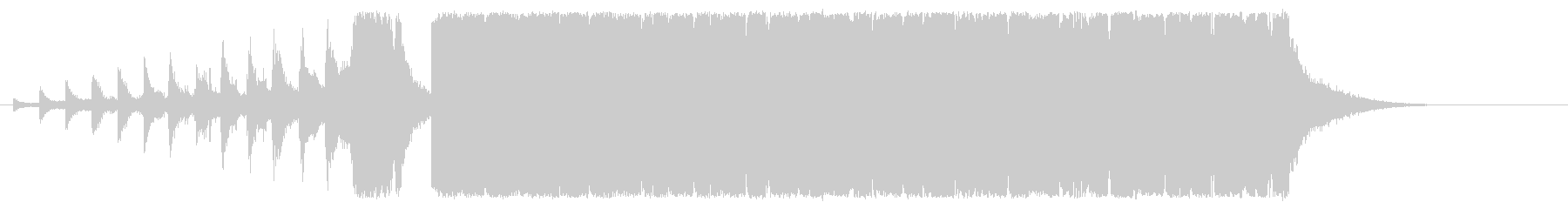 ノリノリでワクワクのEDM風サウンドロゴの未再生の波形