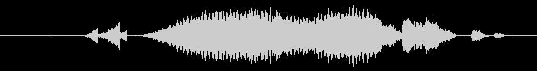 特撮 うねり確認05の未再生の波形