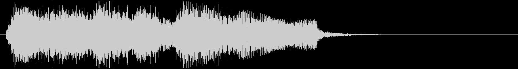 滑らかなサックスの場面転換系サウンドロゴの未再生の波形