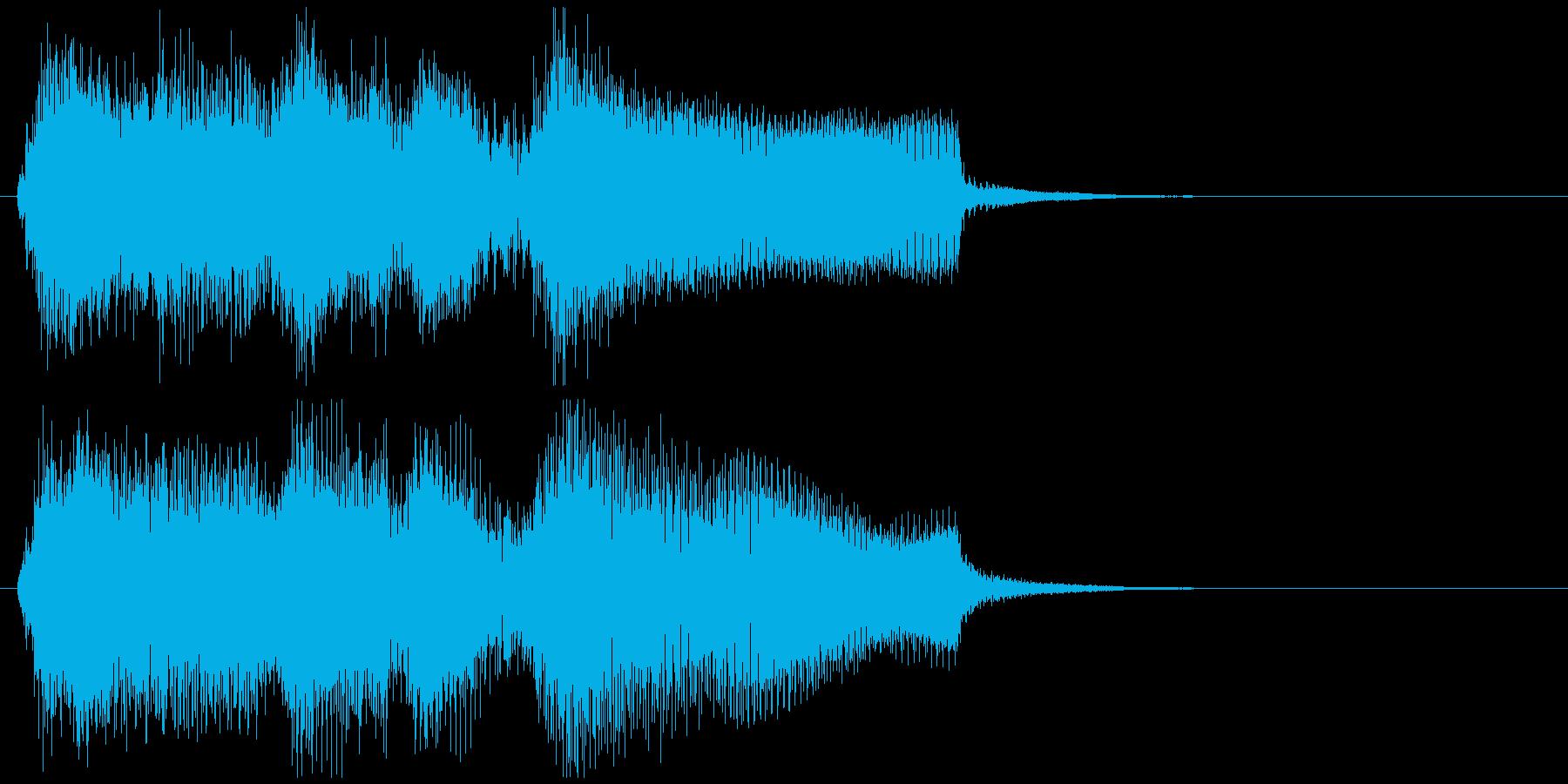 滑らかなサックスの場面転換系サウンドロゴの再生済みの波形