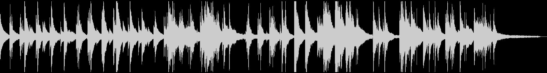 切なく感傷的なピアノソロ-リバーブ有の未再生の波形