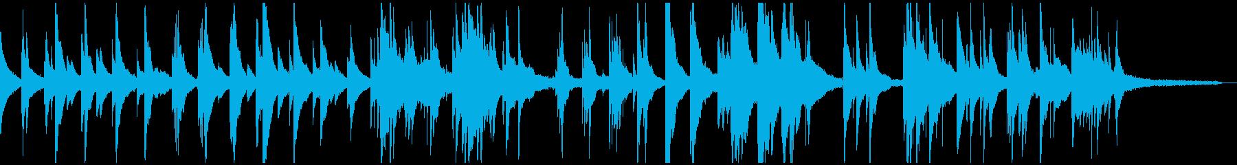 切なく感傷的なピアノソロ-リバーブ有の再生済みの波形