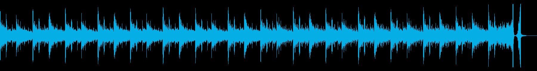 優しい緊張感のあるBGMの再生済みの波形