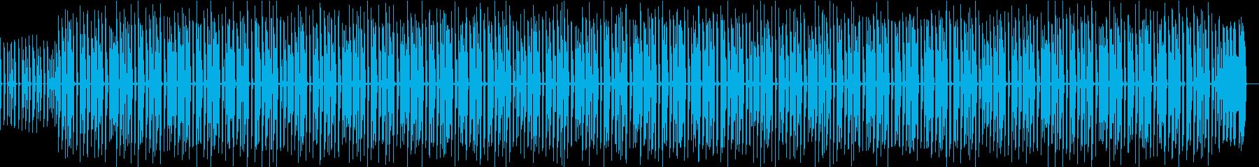 スーパーで流れていそうなチープなBGMの再生済みの波形