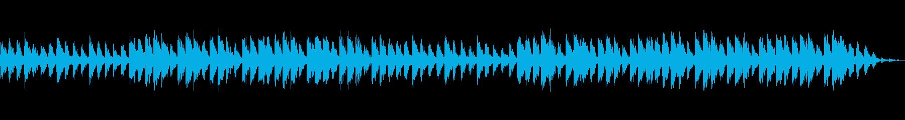 ほんわかとした印象の安らぎ音楽の再生済みの波形