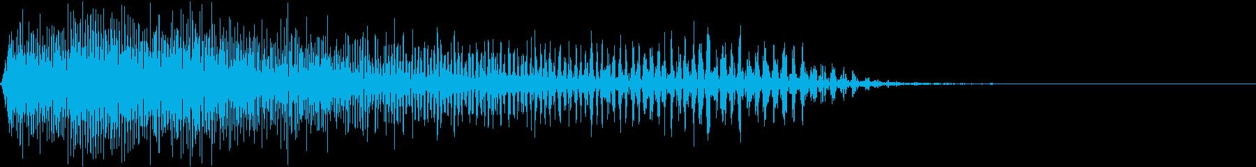 パワーダウンストップの再生済みの波形
