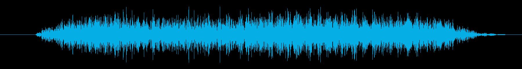 大クリーチャー:低いうなり声の再生済みの波形