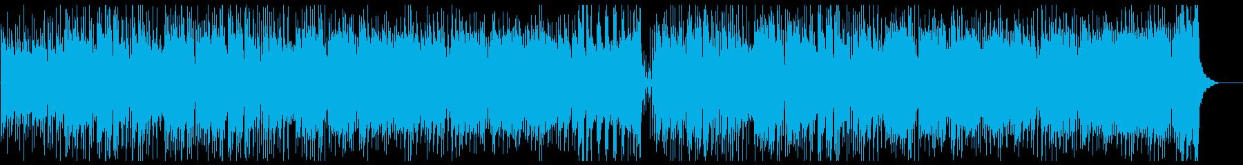 笛・太鼓がメインのどっしりした和風楽曲の再生済みの波形
