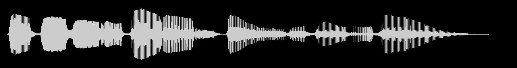 生サックスブルースフレーズ2の未再生の波形