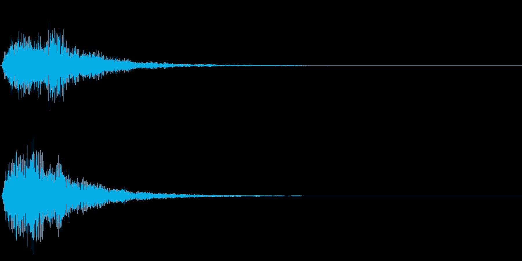 ゲームスタート、決定、ボタン音-146の再生済みの波形