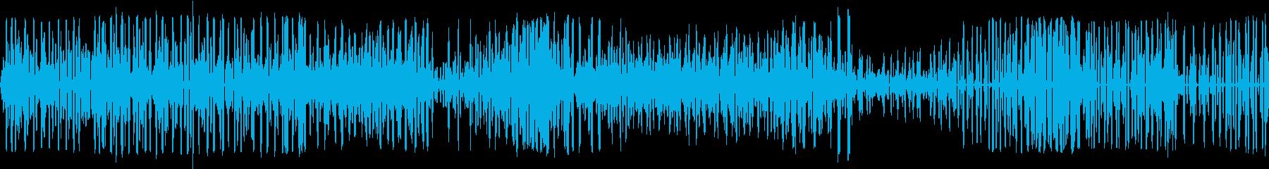 シュレーゲルアオガエルが鳴く池の再生済みの波形