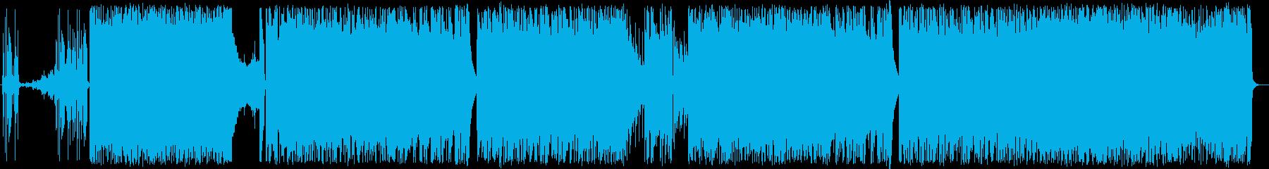 民族っぽい軽快で疾走するテクノポップの再生済みの波形