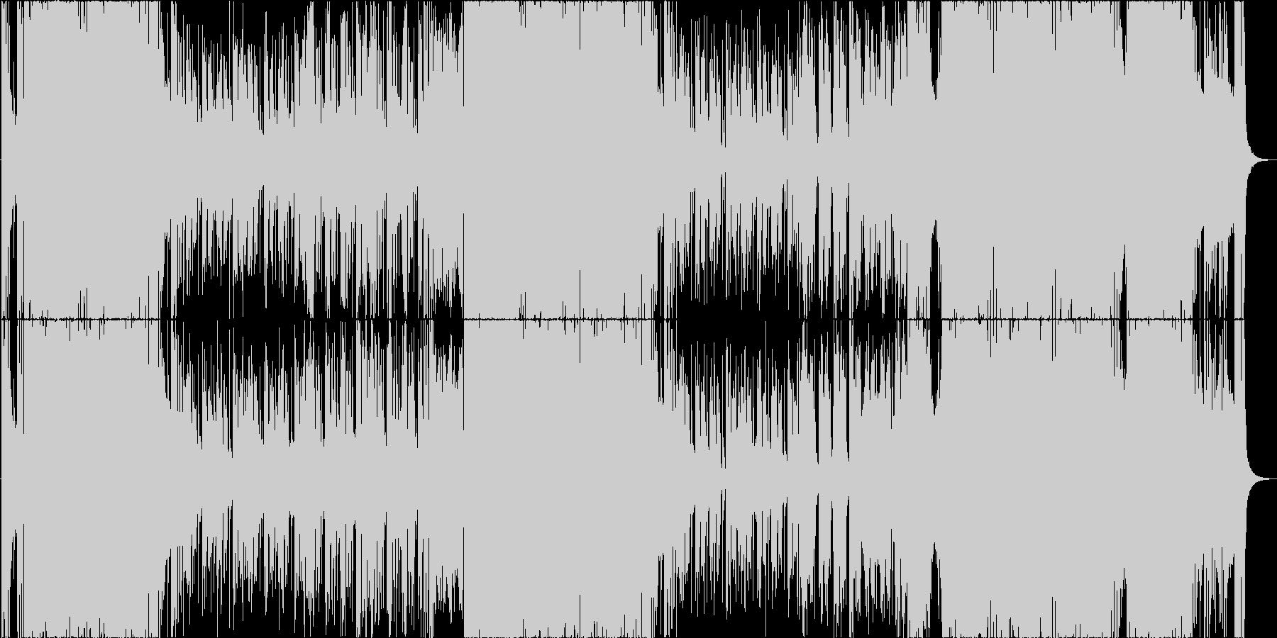 とにかくヘヴィで格好良いロックインストの未再生の波形