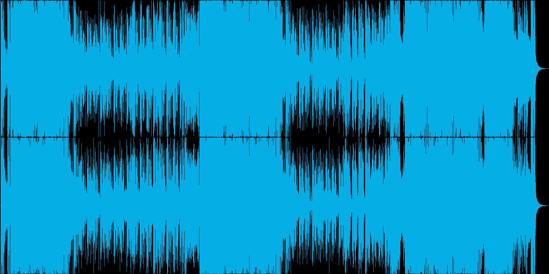 とにかくヘヴィで格好良いロックインストの再生済みの波形