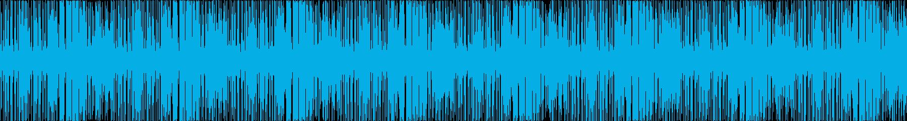キラキラした雰囲気の温かいポップスの再生済みの波形
