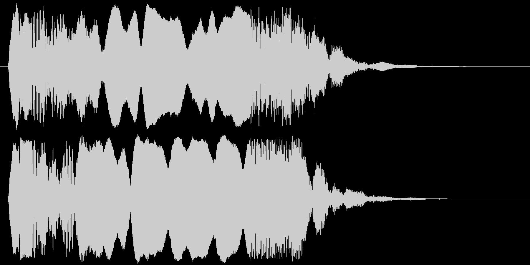 和風な効果音ですの未再生の波形