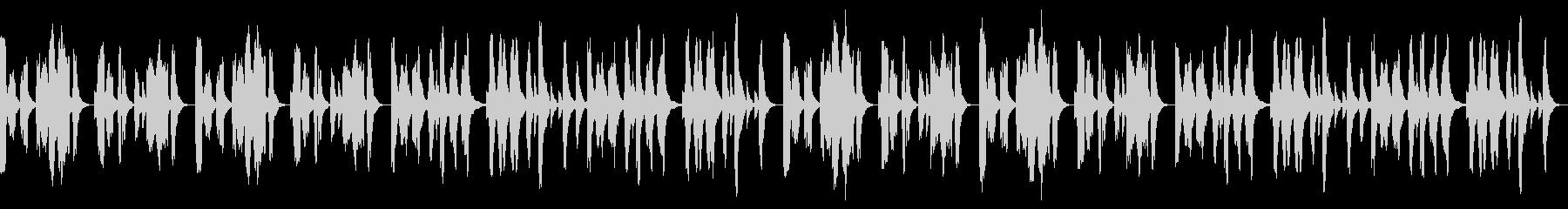 独特なリズムで不気味なメロディーの未再生の波形