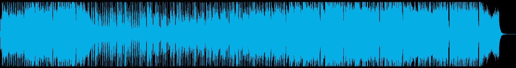 アニメチックな前向きなストリングスポップの再生済みの波形