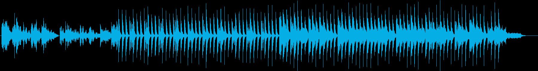 怪しげで冷たげなエレピとグロッケンの曲の再生済みの波形