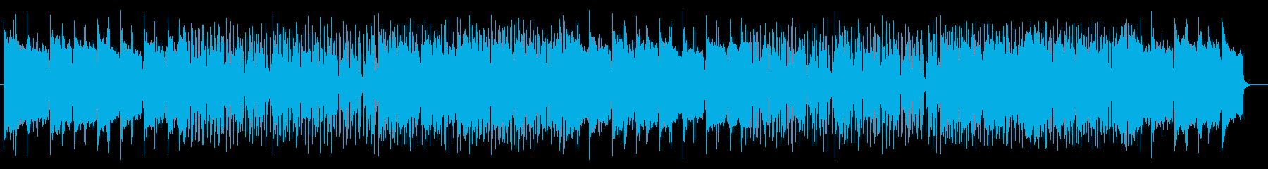 広がりのある明るい前向きな曲の再生済みの波形