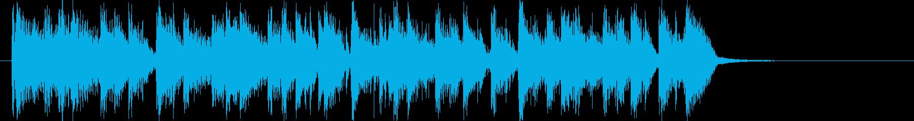 闘牛士風スパニッシュギターロゴの再生済みの波形
