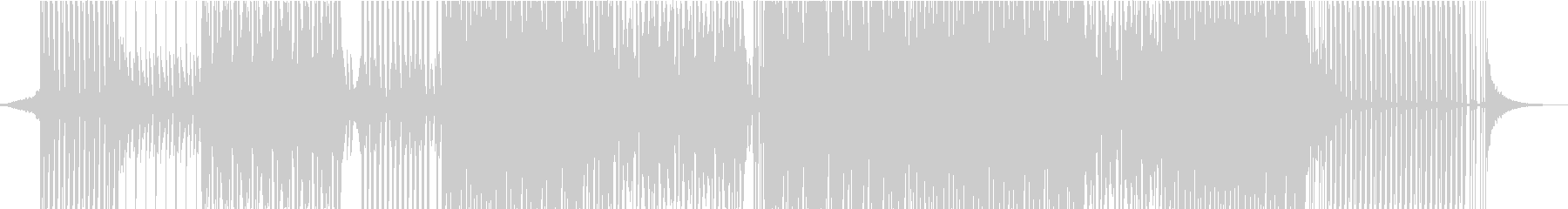 おしゃれなピアノハウスミュージックの未再生の波形