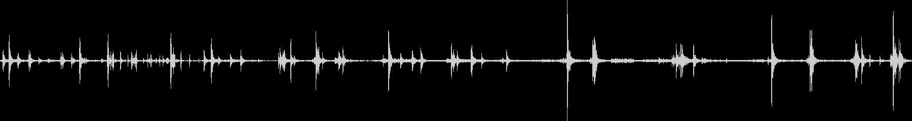 トラックギアシフトの未再生の波形