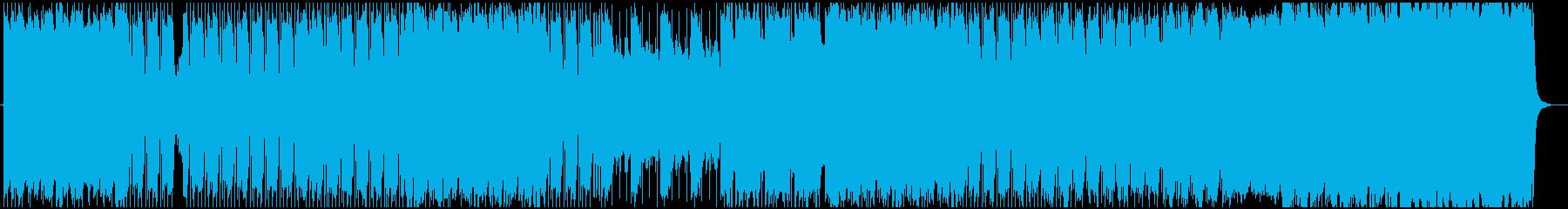ギターリフ系のミドルテンポのヘビーロックの再生済みの波形