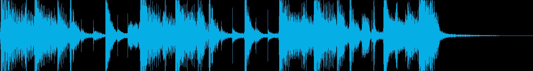 ベースが主役のジングル曲の再生済みの波形