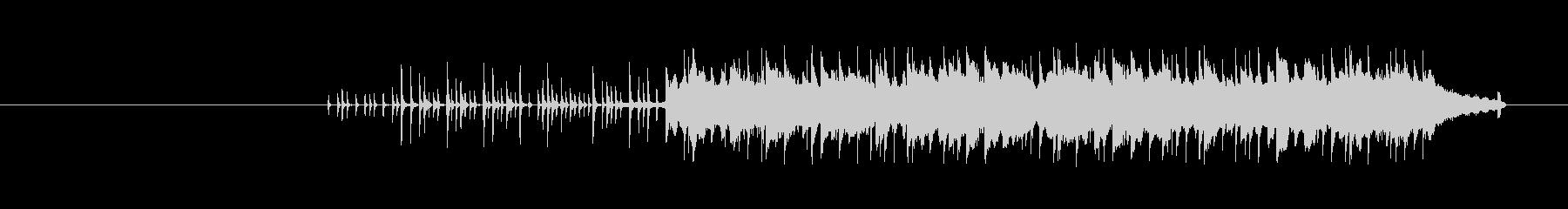 穏やかな流れのあるリズムポップスの未再生の波形