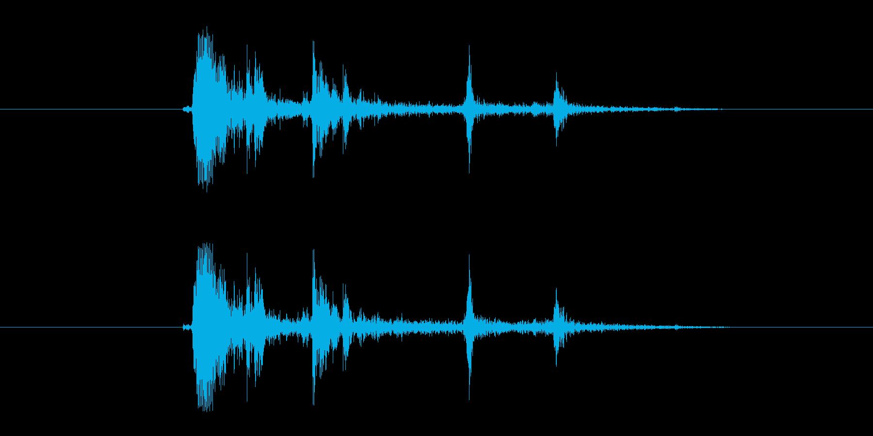 FX・SE/ガン/銃/システム音/カシャの再生済みの波形
