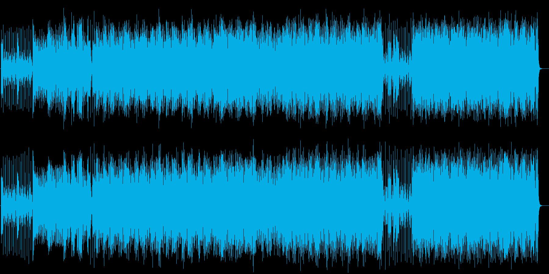 変則ビートの小気味好いドラムンベースの曲の再生済みの波形