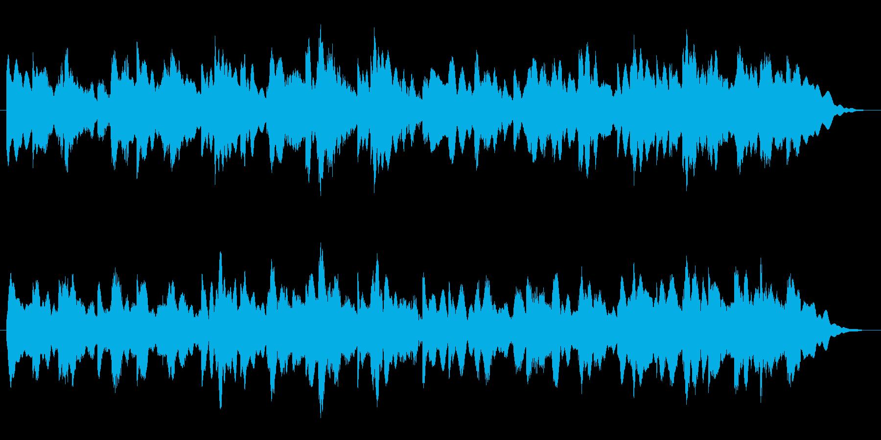 森で迷っているような不安感のある曲の再生済みの波形