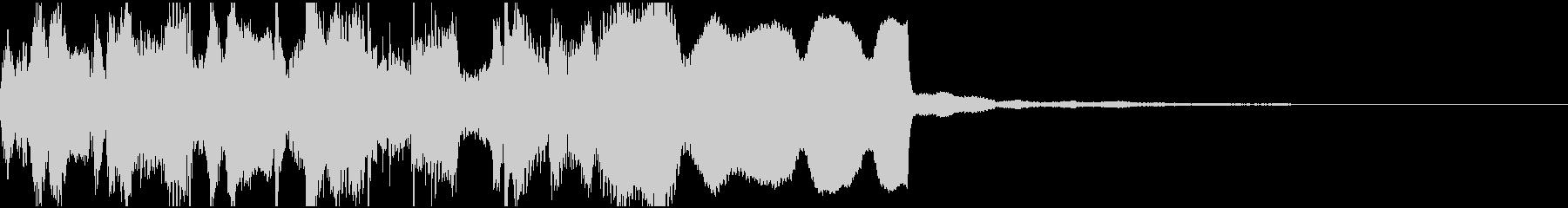 和風、笛と太鼓の囃子風ジングル1の未再生の波形