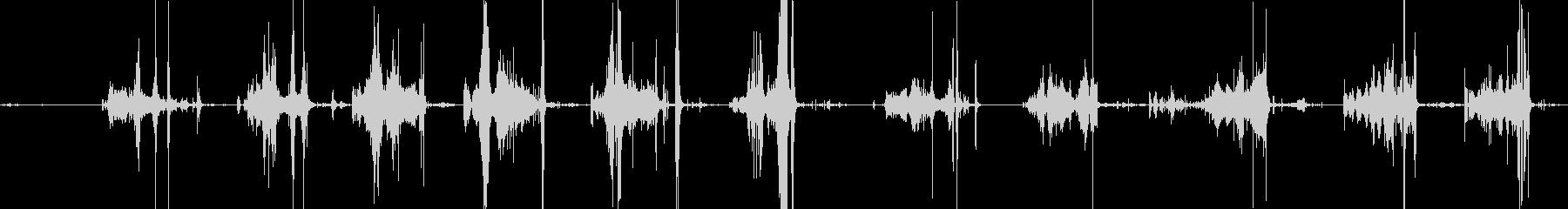 スイカを切る音の未再生の波形