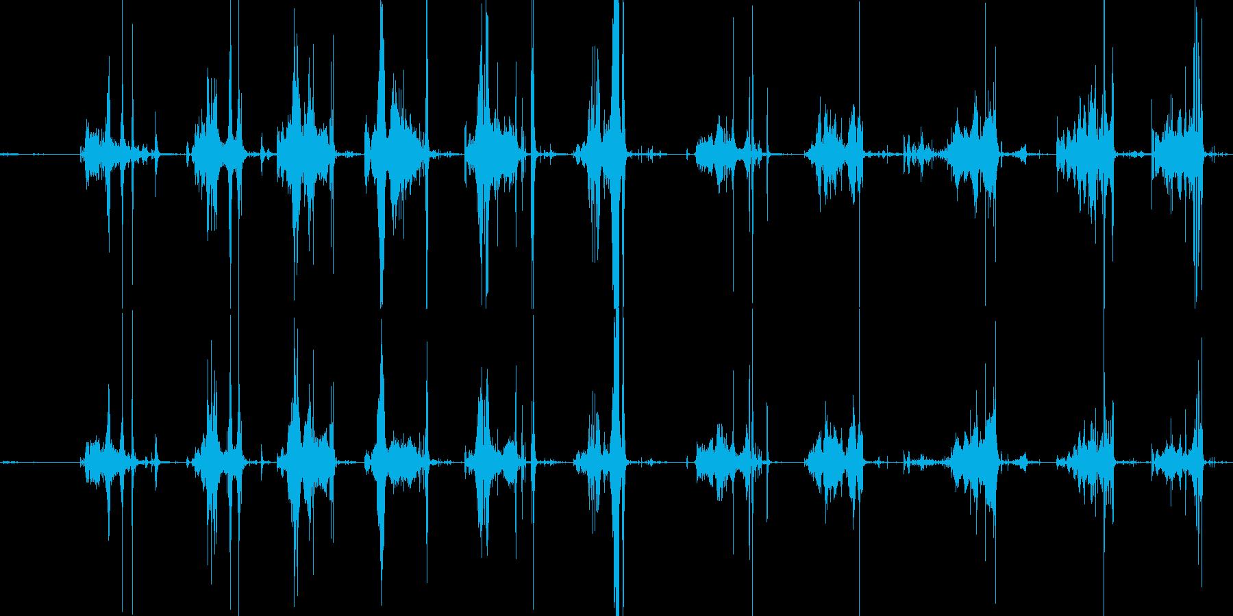 スイカを切る音の再生済みの波形