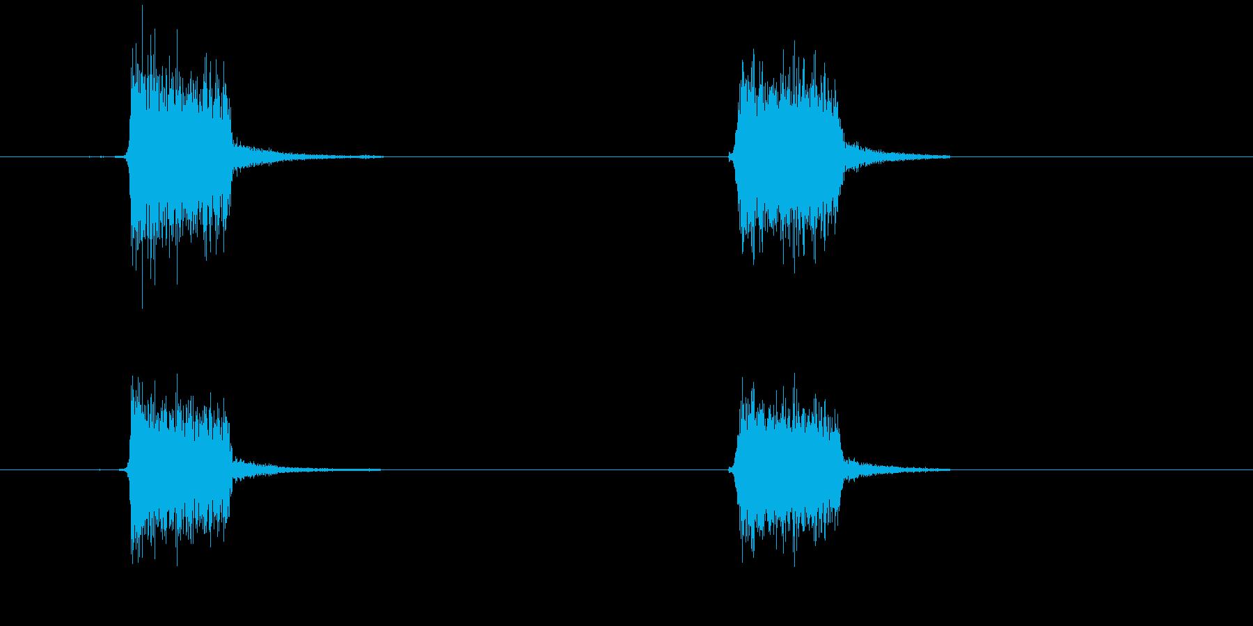 スプレーを噴きかける1の再生済みの波形