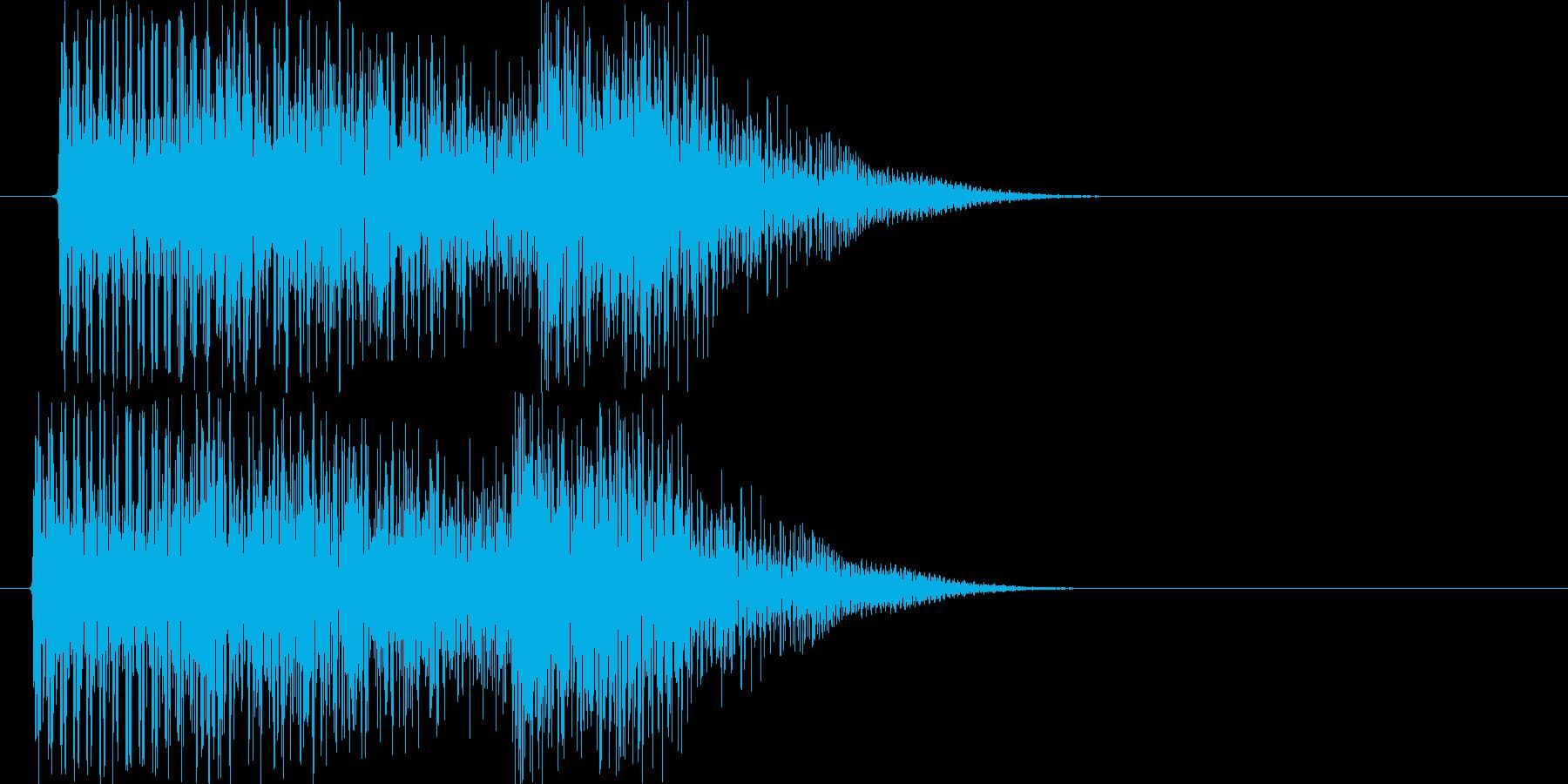 テロリラン_低音(スロットでの確定音)の再生済みの波形