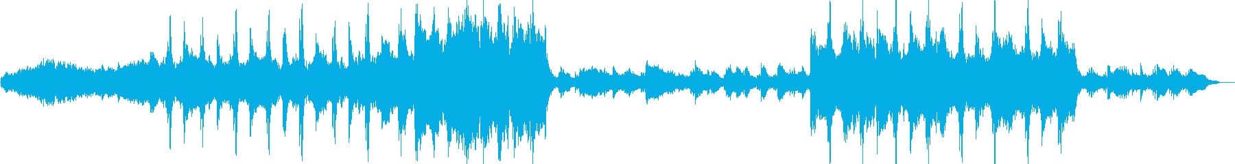 勇ましさを感じるオーケストラBGMの再生済みの波形