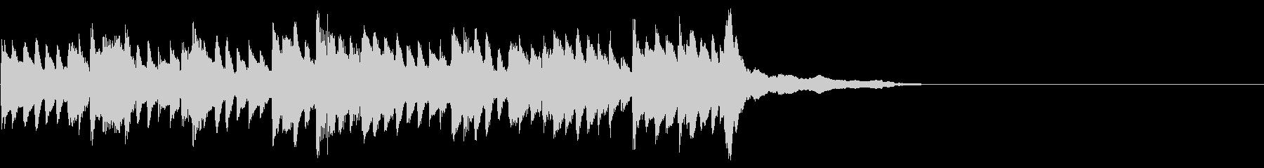美容コスメ動画 ピアノのコーナータイトルの未再生の波形