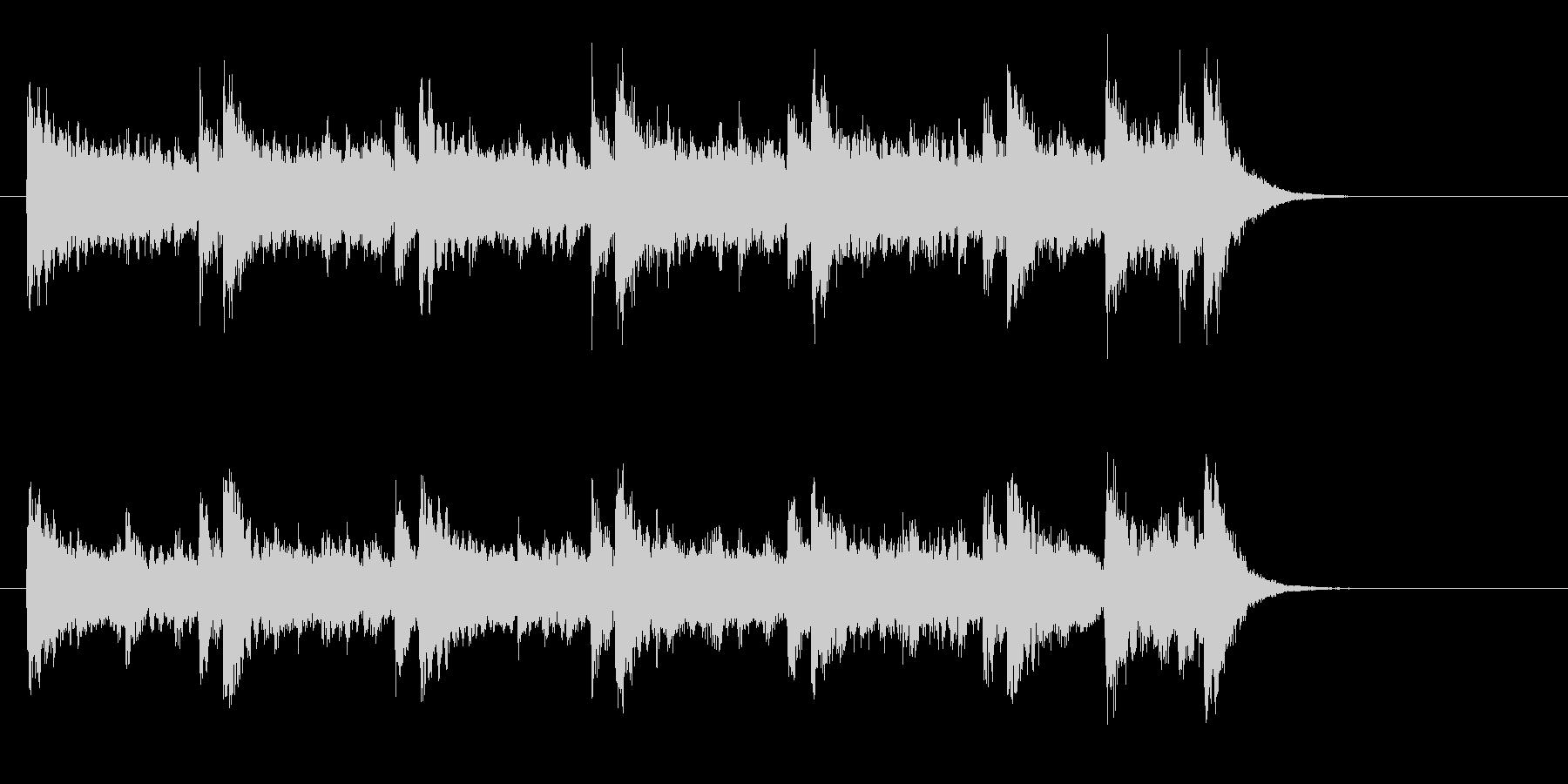 ピアノのライト・ポップス(イントロ)の未再生の波形
