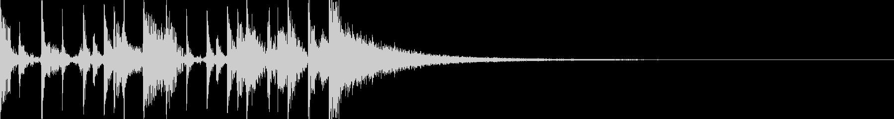 ドラムオンリーなファンファーレの未再生の波形