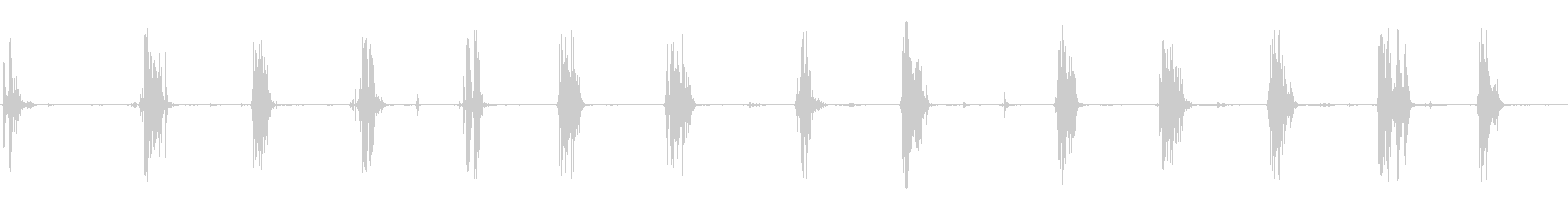 食べる音10(ポテトチップスなど)の未再生の波形