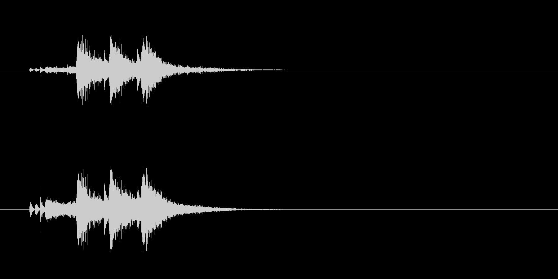 ジングル(ブラスセクション風)の未再生の波形