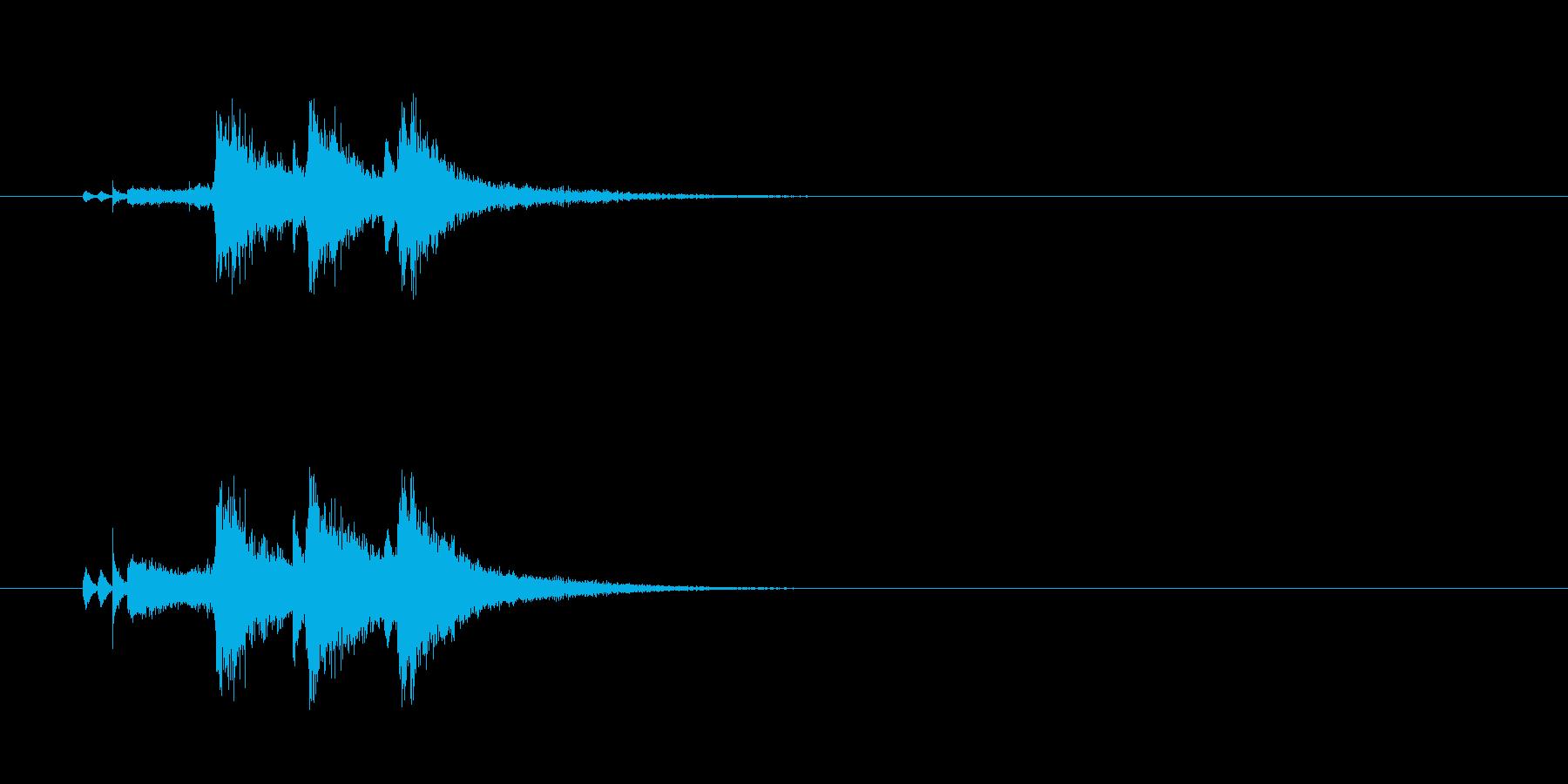 ジングル(ブラスセクション風)の再生済みの波形