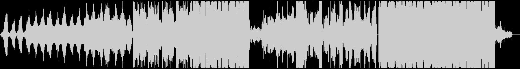 幻想的で不気味な機械音エレクトロニカの未再生の波形