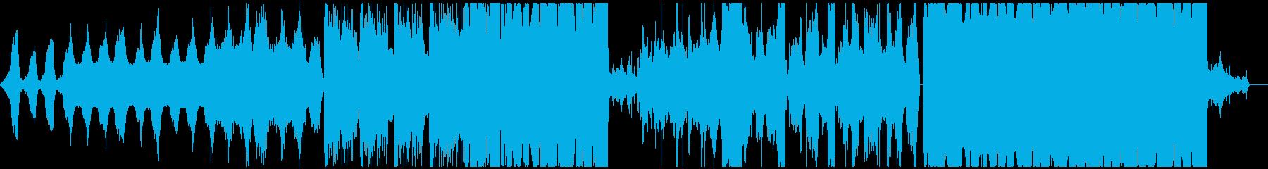 幻想的で不気味な機械音エレクトロニカの再生済みの波形
